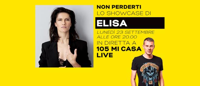 Lunedi 23 Settembre h.20 - Elisa Live @