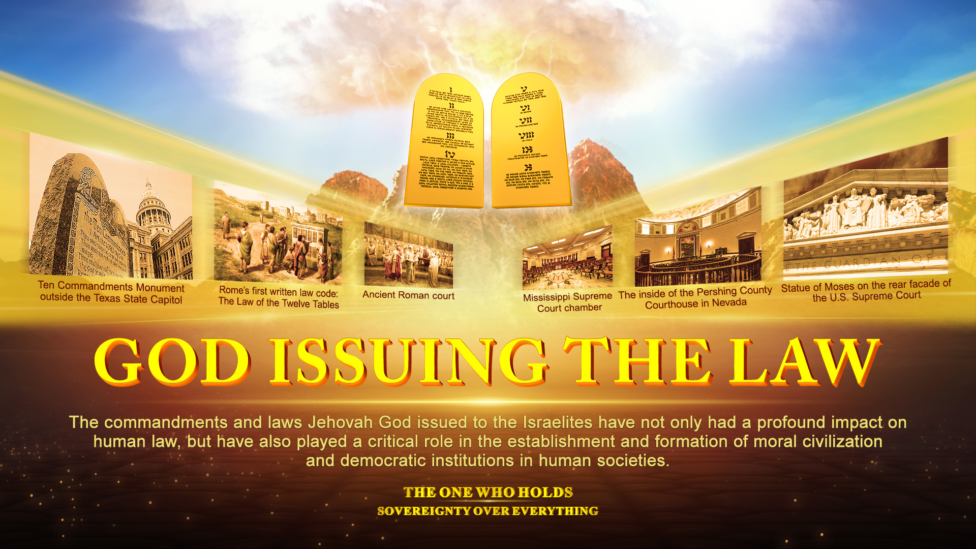 20-6 Christian Documentary Trailer _The One Who Holds Sovereignty Over Everything_ _ Issuing the Law