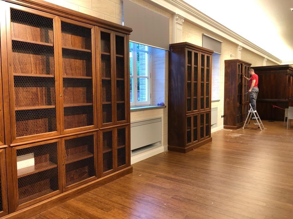 arredi biblioteche in legno