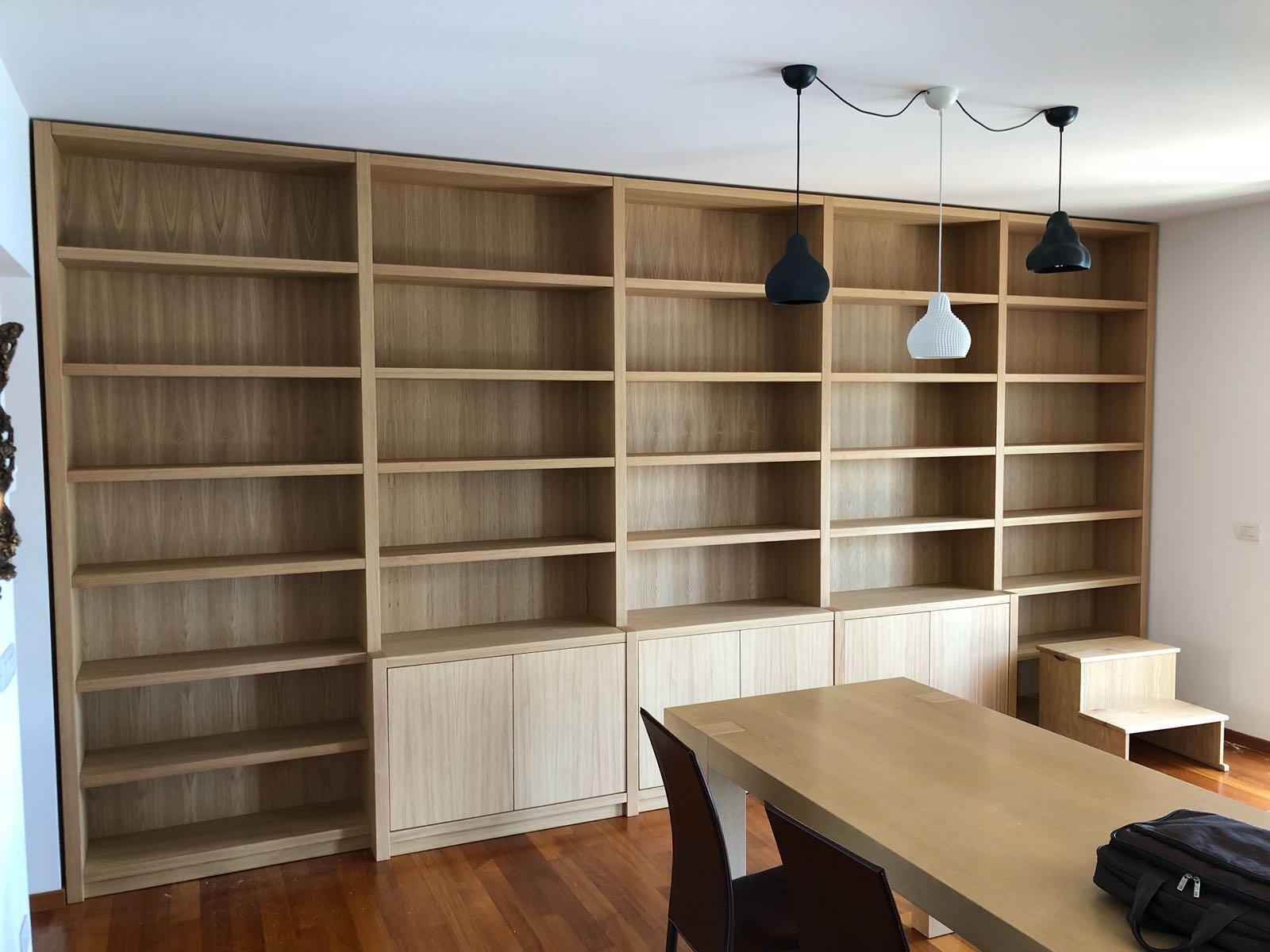 librerie in legno su misura roma