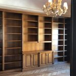 librerie in legno noce