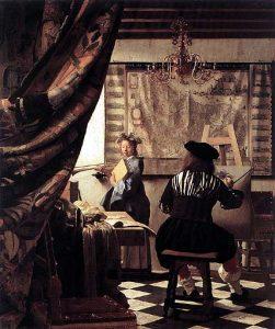 Lo studio dell'artista di  Vermeer