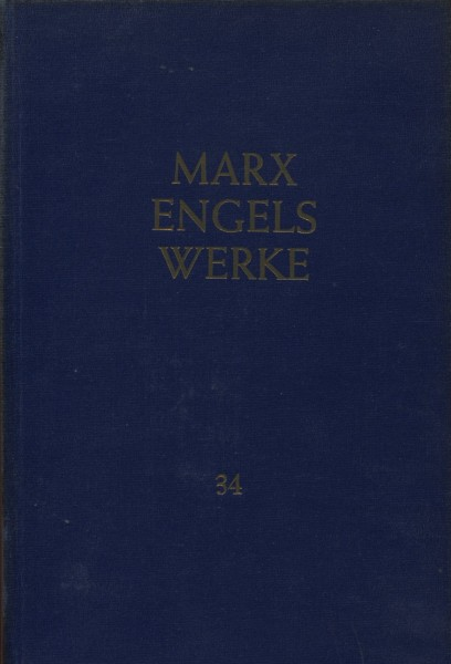 Marx Engels Werke, volume 34