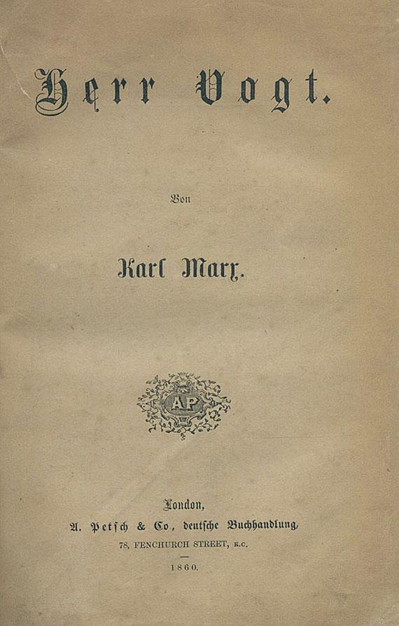 Herr Vogt di Karl Marx