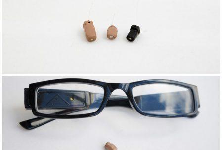 Auricolare spia con gli occhiali