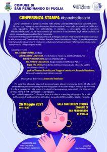 Manifesto leparoledellaparità 26 maggio 2021 San Ferdinando di Puglia
