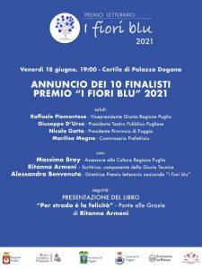 Gran Finale Per La Rassegna Letteraria''I Fiori Blu''il 18 Giugno a Foggia Di;Redazione World News Web 24