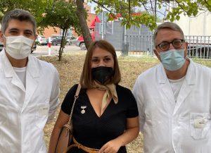 foto 1 da sx verso dx Dott. Guido Giordano, Avv. Irene Bonassisa, Prof. Matteo Landriscina