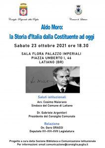 """Aldo Moro: la Storia d'Italia dalla Costituente ad oggi"""", il 23 ottobre incontro a Latiano (BR)-Redazione World News 24-"""