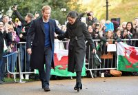 Prince Harry and Meghan Markle during a visit to Cardiff Castle. LaPresse Only italy