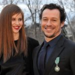 Italian actor Stefano Accorsi poses with his new girlfriend Bianca Vitali after he was awarded with the insignia of Chevalier des Arts et des Lettres (Arts and Letters Order) at the French embassy in Palazzo Farnese in Rome on January 21, 2014. AFP PHOTO / TIZIANA FABI        (Photo credit should read TIZIANA FABI/AFP/Getty Images)