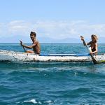 Isola, Eva e Moreno sul caiucco