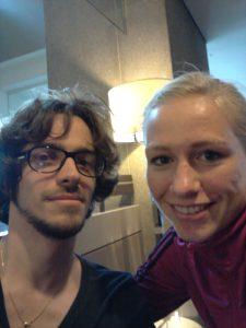 Thibault insieme a Pauline Bremer, giocatrice della nazionale tedesca