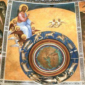 la creazione del mondo, Giusto de' menabuoi, c. 1376, Battistero del Duomo, Padova