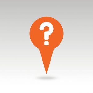 Question mark pin map icon. Map pointer. Map markers. Vector illustration EPS10
