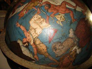 Biblioteca Vallicelliana, globo celeste, ultimo decennio '500. E' fra i più antichi in Europa