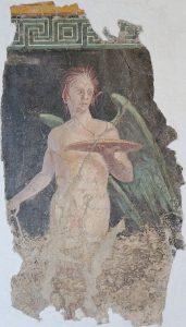 Genio alato, affresco proveniente da una villa romana di Boscoreale