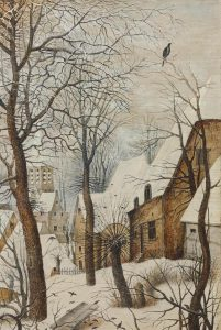 Pieter-Brueghel-il-Giovane-La-trappola-per-uccelli-particolare