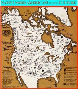 Mappa culture Nativi Nordamericani