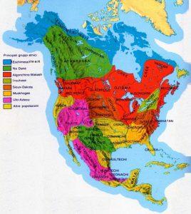 carta etnie e ceppi linguistici nativi nordamericani