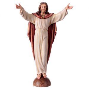 statua-cristo-risorto-su-mensola-colorato