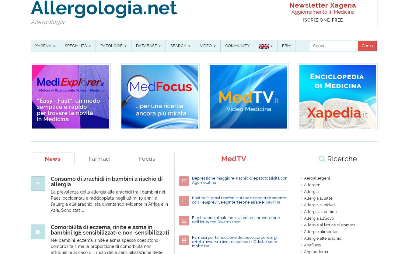 Allergologia.net.Xagena_Network