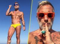 Gianluca Vacchi in spiaggia a Miami, ma nulla è come sembra