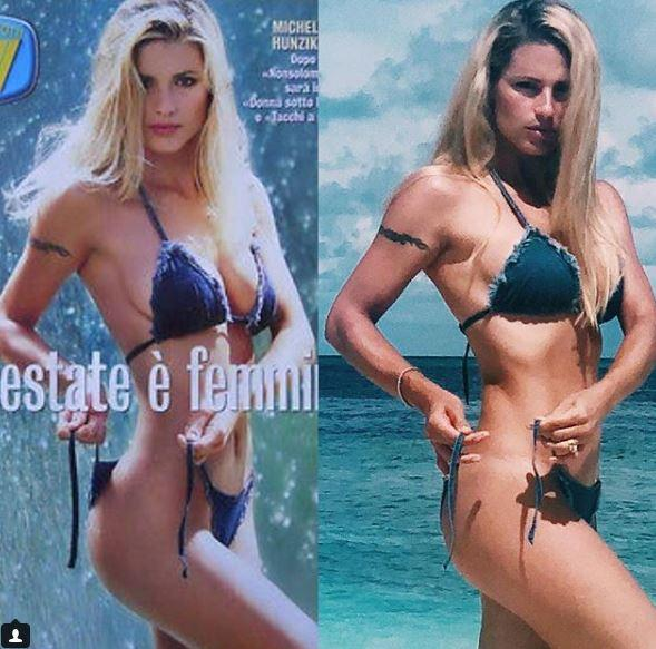Sexy michelle hunziker Michelle Hunziker,