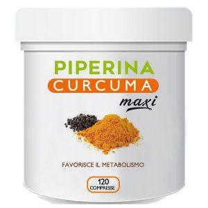 piperina curcuma maxi 120 compresse