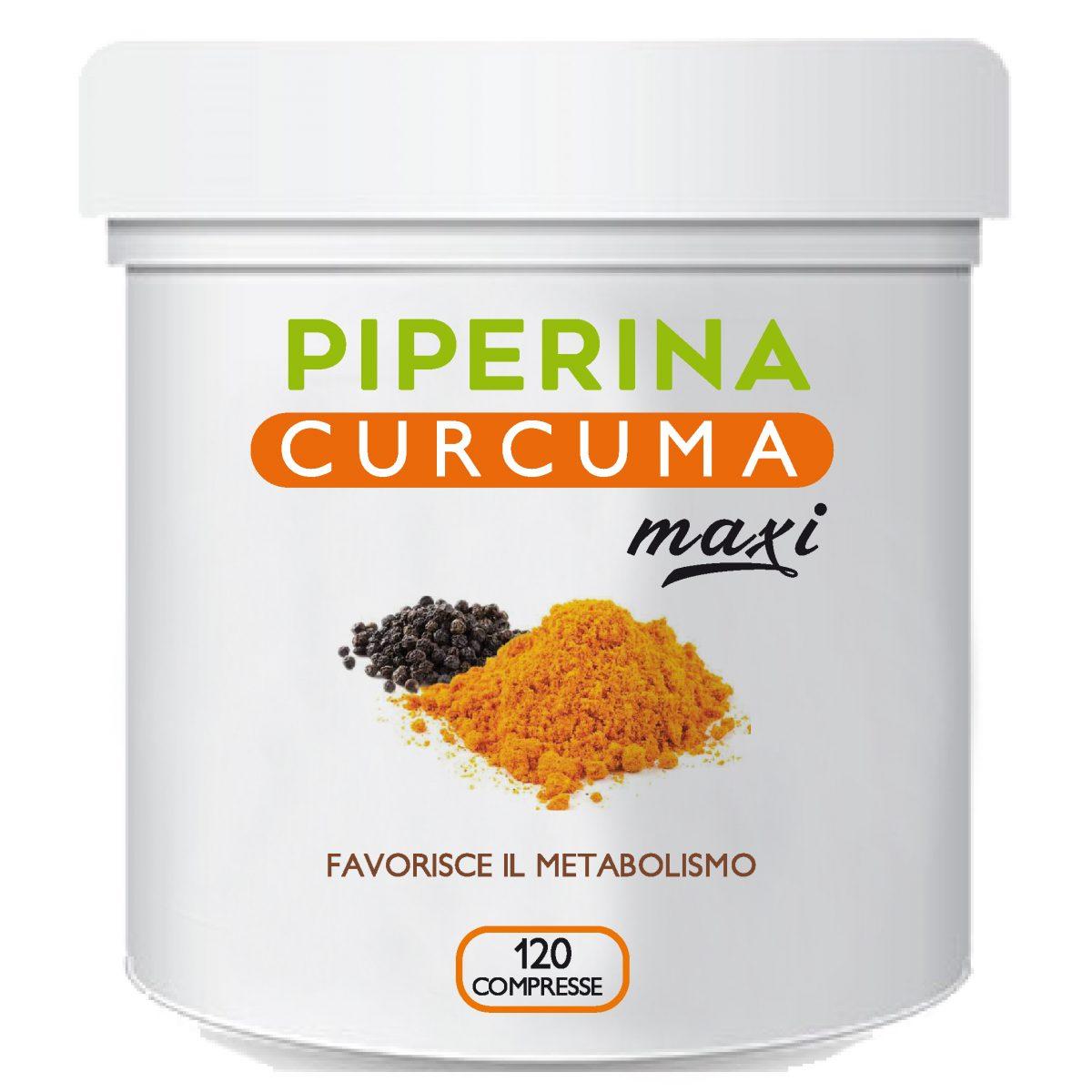 Piperina Curcuma Maxi il segreto per la perdita di peso