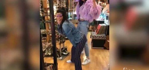 Kendall Jenner Kourtney Kardashian balletto sexy negozio_09105855