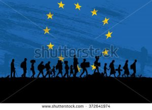 stock-vector-silhouette-of-a-group-of-refugees-walking-with-flag-of-europe-as-a-background-372641974[1]