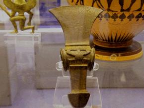 L'ascia votiva nel British Museum a Londra