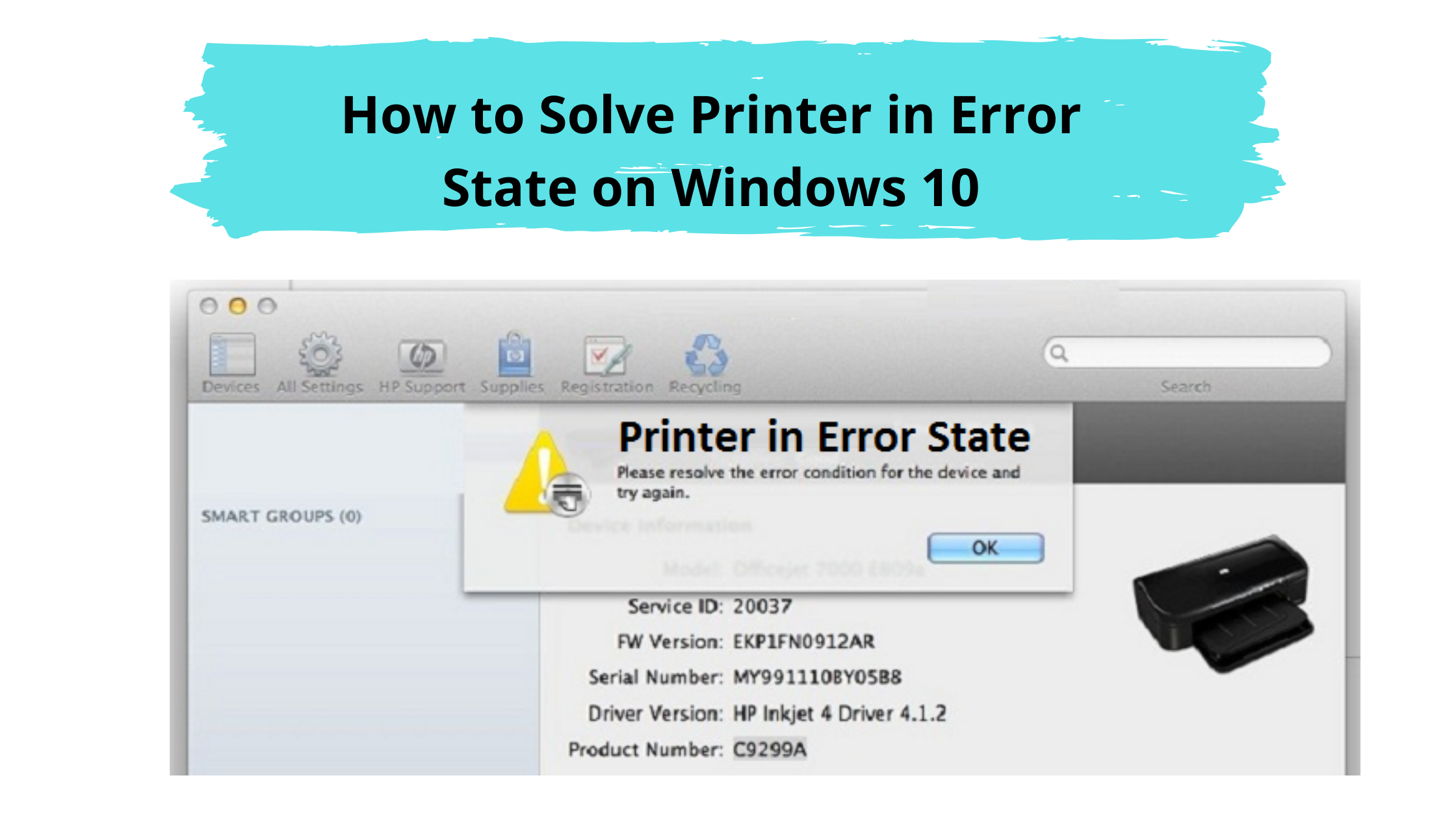 How to Solve Printer in Error State on Windows 10