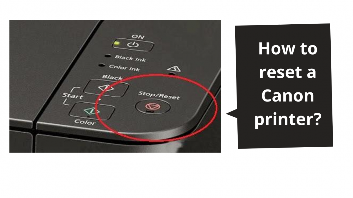 How to reset a Canon printer?