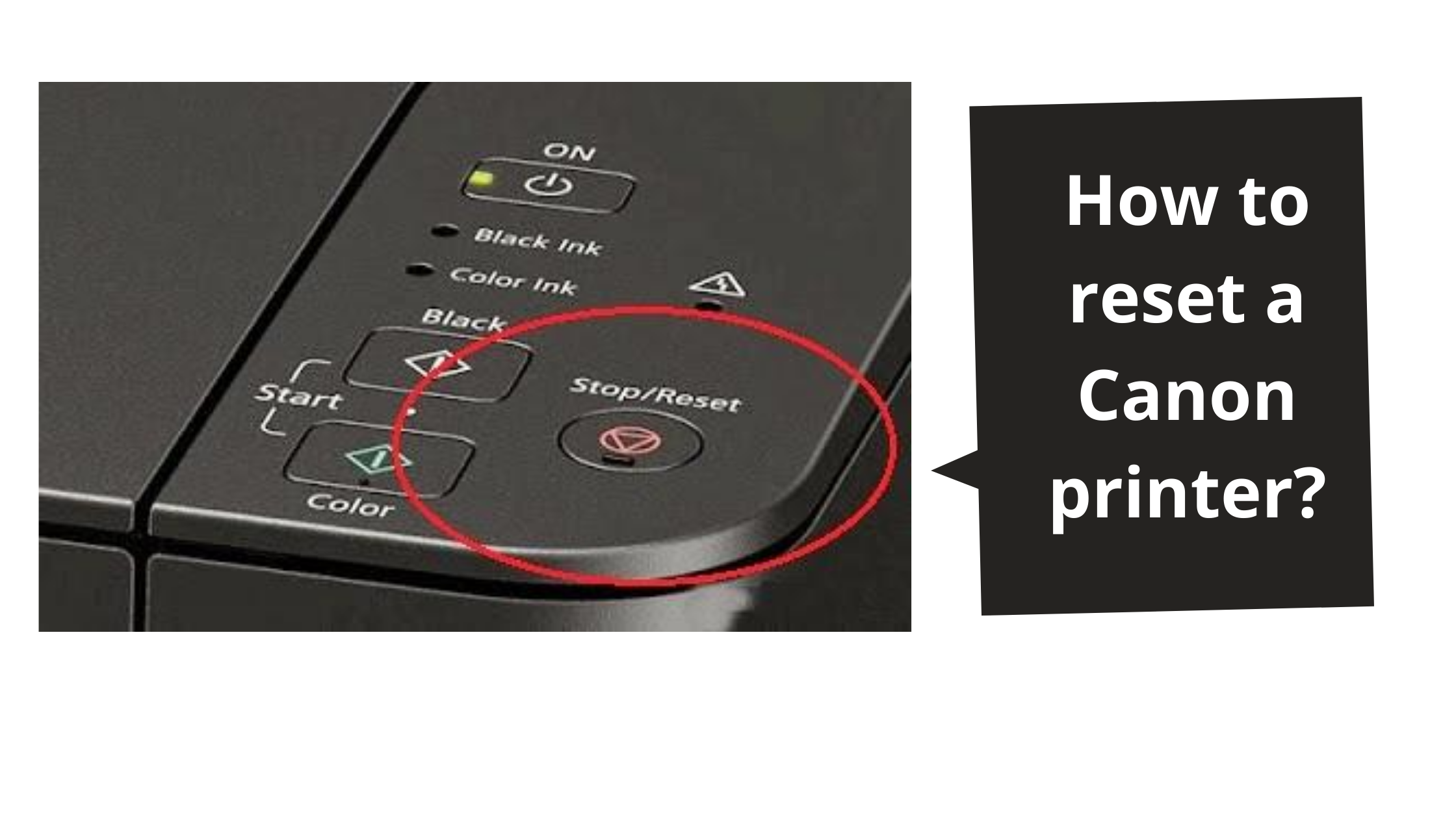 How to reset a Canon printer