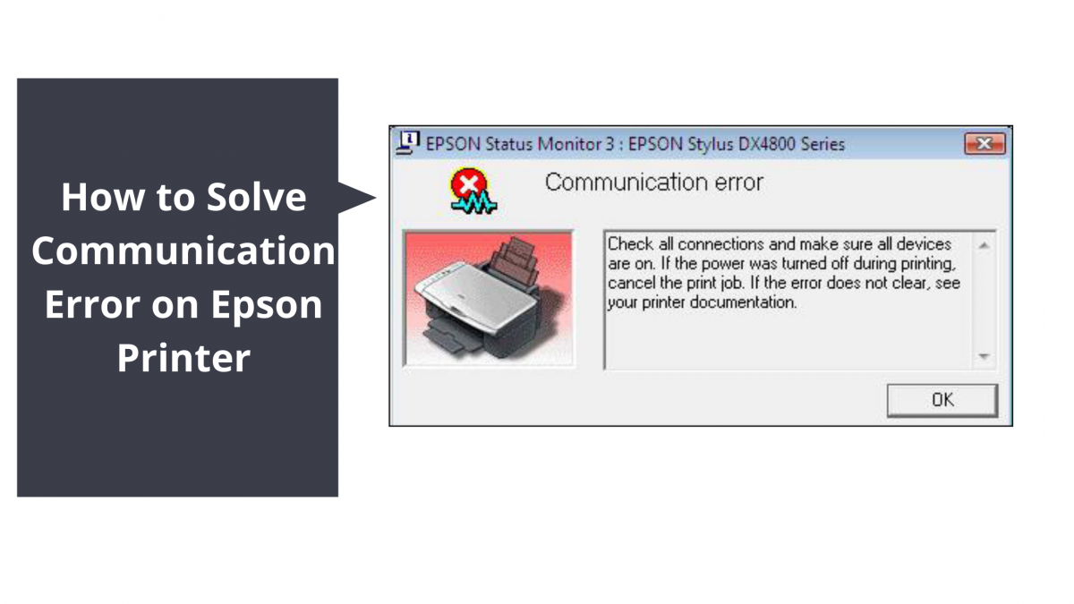 How to Solve Communication Error on Epson Printer
