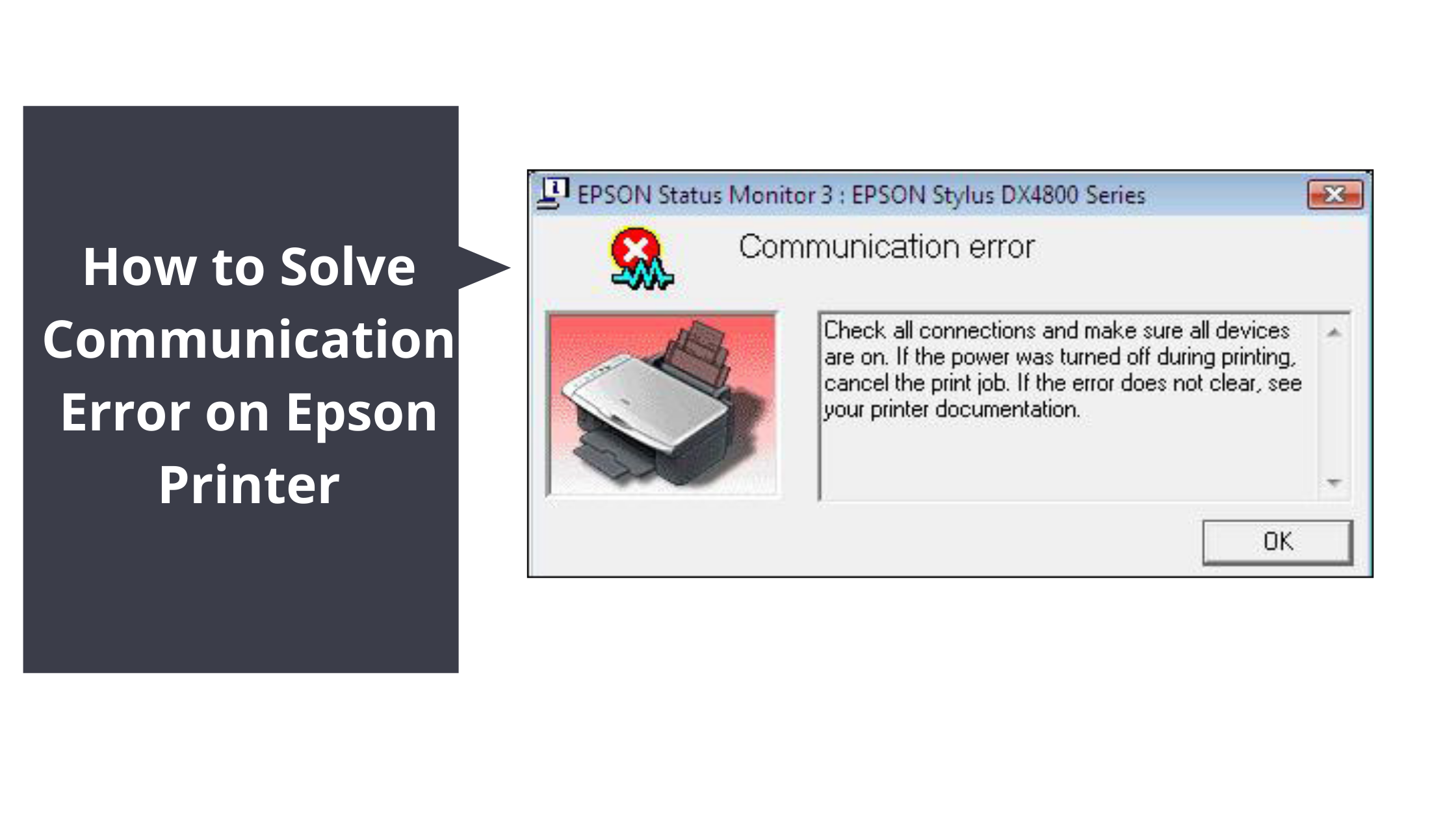 epson printer communication error