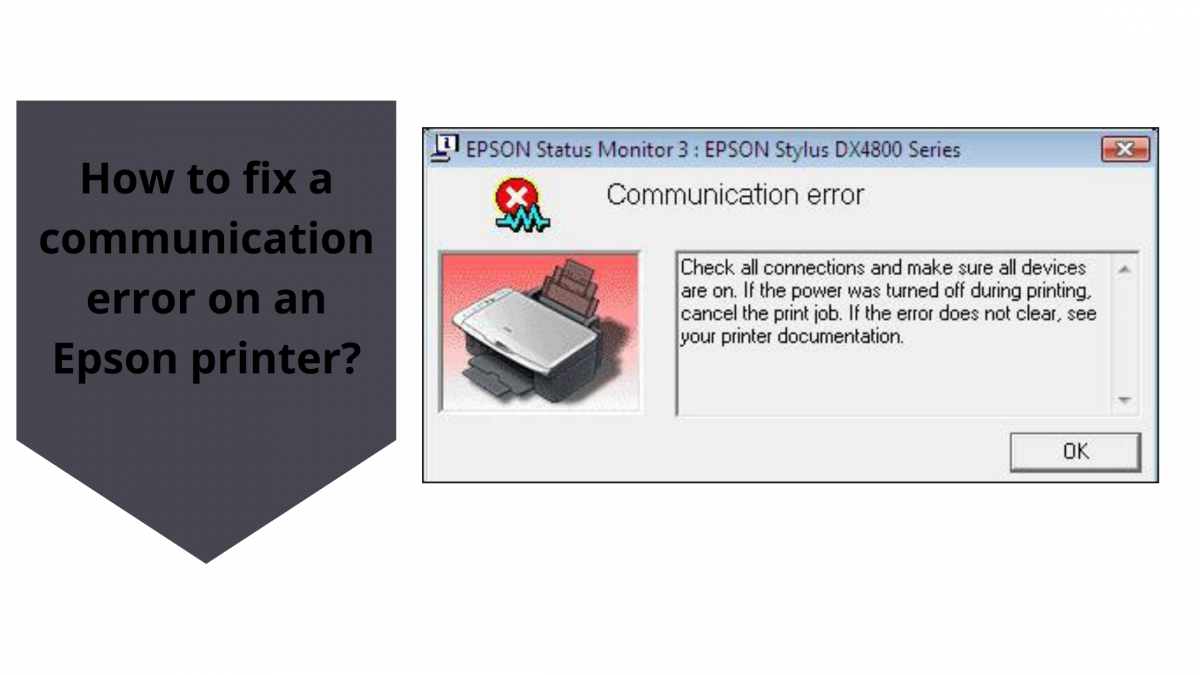 How to fix a communication error on an Epson printer?