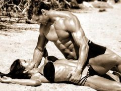 Sexy couple fitness