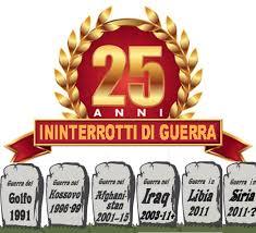25 ANNI GUERRA