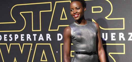 Actress Lupita Nyong'o poses on the red carpet in Mexico City, Mexico, on 08 December 2015, to promote the seventh episode of the movie Star Wars 'The Force Awakens' directed by J. J Abrams. The movie will premiere in Mexico on 18 December 2015. EFE/Mario Guzman