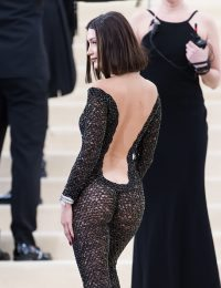 NEW YORK, NY - MAY 01:  Model Bella Hadid is seen at the 'Rei Kawakubo/Comme des Garcons: Art Of The In-Between' Costume Institute Gala at Metropolitan Museum of Art on May 1, 2017 in New York City.  (Photo by Gilbert Carrasquillo/GC Images)