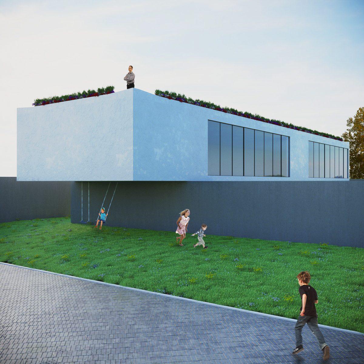 Render esterni per studio di architettura a Roma
