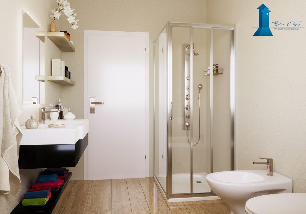 Render bagno villa bifamiliare