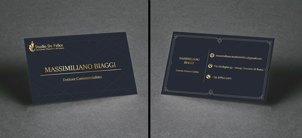 biglietto da visita per studio commercialista - progettazione biglietto da visita - studio commercialista Genzano di Roma - studio commercialista Roma