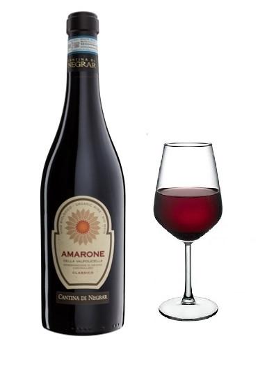Amarone Negrar bicchiere