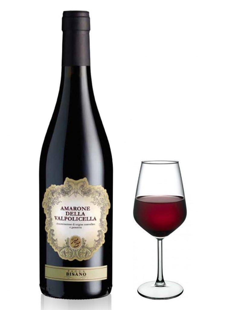 Amarone della Valpolicella docg Pagus Bisano Bicchiere