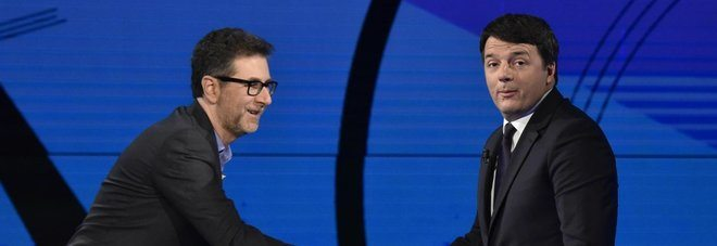 """Renzi ospite da Fazio: """"Scissione Pd? Disegno scritto e ideato da D'Alema"""""""