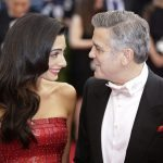 George Clooney and Amal Alamuddin arrive on the red carpet at the Costume Institute Benefit at The Metropolitan Museum of Art celebrating the opening of China: Through the Looking Glass in New York City on May 4, 2015.     Photo by John Angelillo/UPI - Infophoto